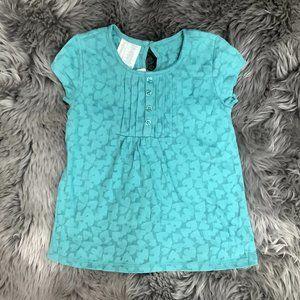 Toughskins | Girl's Short Sleeve Shirt | Blue